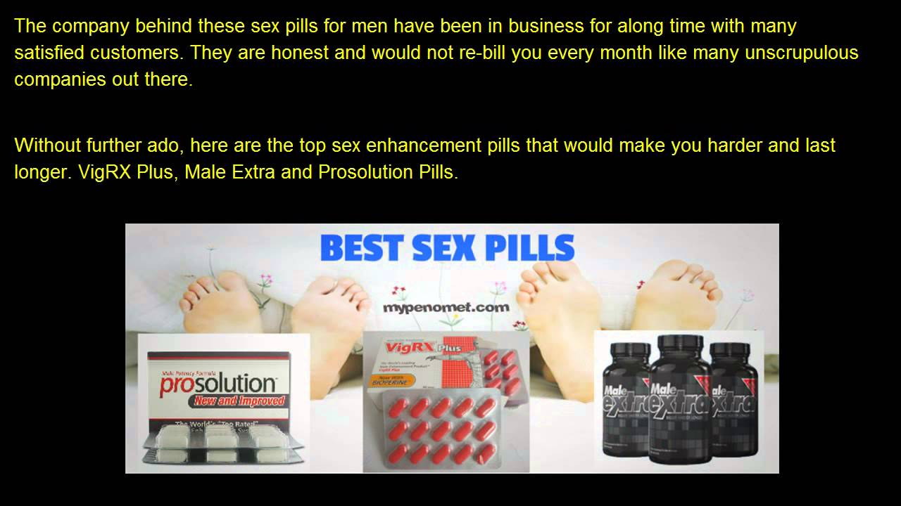 Sex Pills For Men To Last Longer